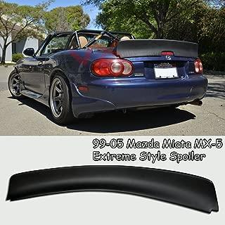 VXMOTOR Rear Trunk Spoiler Wing Lip Kit Black for 1999-2005 Mazda Miata NB Extreme Style