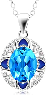 Fine Gifts for Women Swiss Blue Topaz Pendant Necklace...