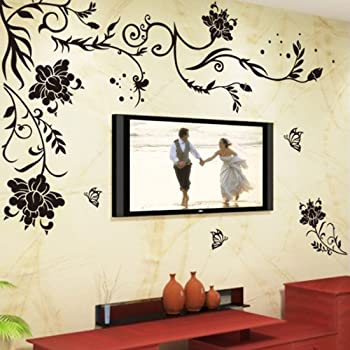 Flower Corner Floral Transfer Wall Art Sticker Decal Home Decor FL22