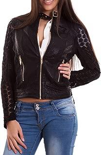 Giacca jeans donna cappuccio giacchetto giubbotto giubbino colletto nuovo JS8005