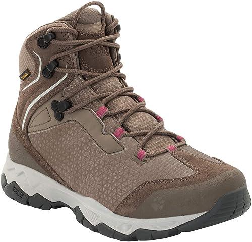 Jack Wolfskin Rock Hunter Texapore Mid W Wasserdicht, Chaussures de Randonnée Hautes Femme