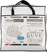 Homescapes - Kids - Duvet - 10.5 Tog - Goose Feather and Down Filling - 120 x 150 cm - Anti Dust mite 100% Cotton Fabric - Anti Allergen Filling - Toddler Quilt - Washable at Home