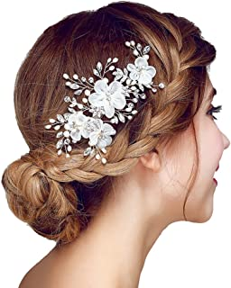 Best lace and pearl wedding hair accessories Reviews