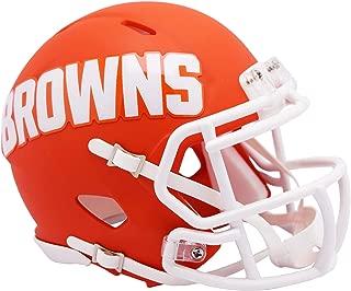 Riddell Cleveland Browns AMP Alternate Revolution Speed Mini Football Helmet - NFL Mini Helmets