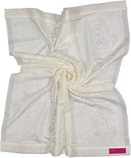 Southampton Home Lace Weave Bunny Baby Blanket (Ivory)