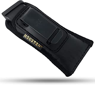 Concealment Tactical Magazine IWB Pouch – by Houston- ECO Leather and Multi Use Soft Pouch for Pistol Inside The Waistband Small, Medium and Large Single and Double Stack .380 .9mm .40 and .45 Cal