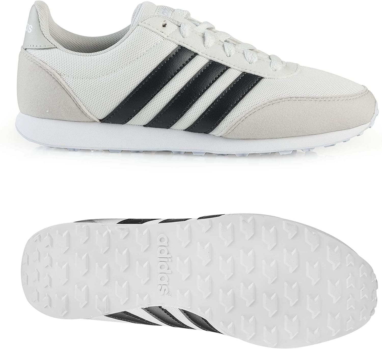 Chelín Escupir claro  Amazon.com | adidas - V Racer 20 - BC0106 (7.5, Crystal White S16 / Carbon  S18 / Aero Blue S18) | Fashion Sneakers