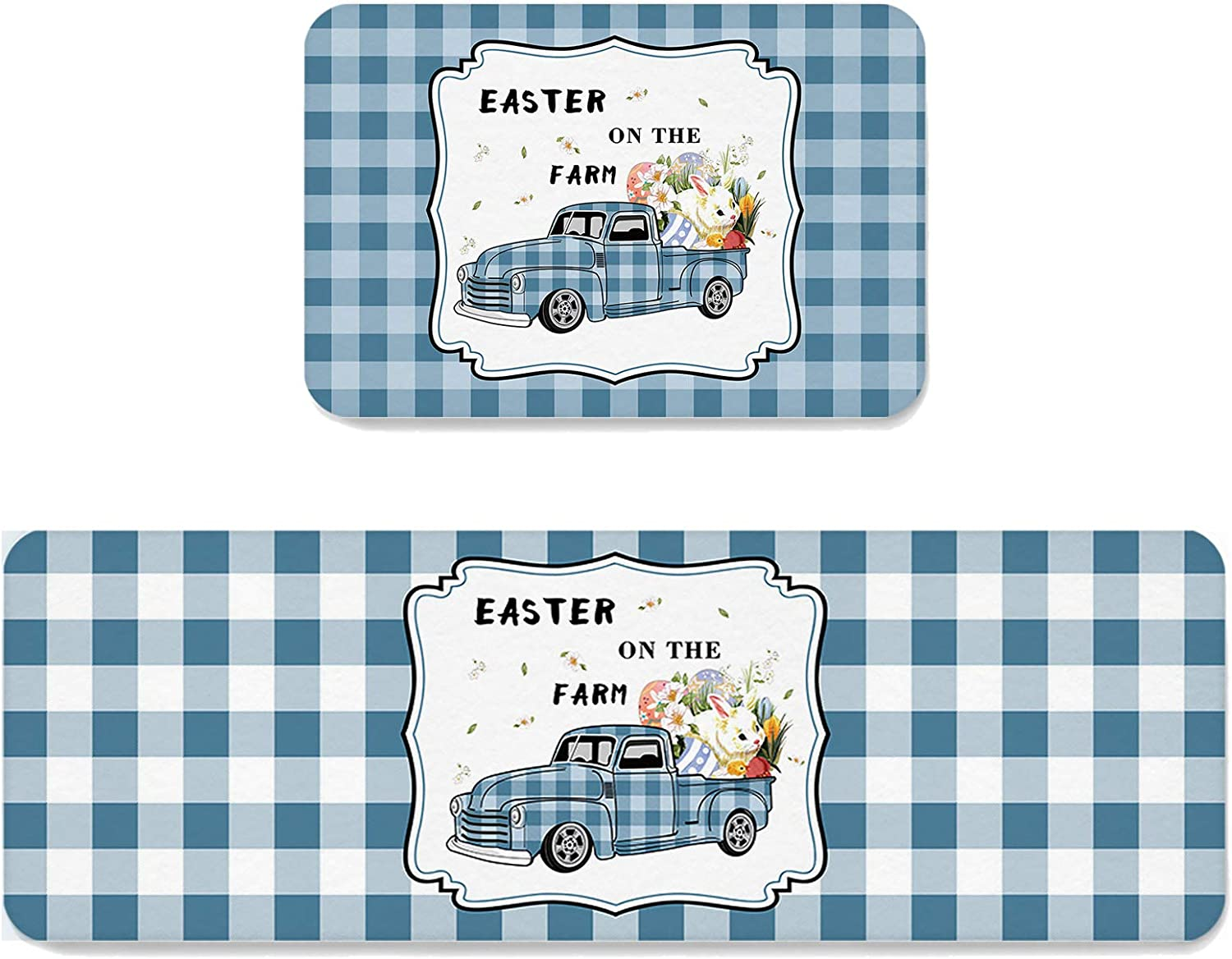 Area Rug Set 2 Pieces Non-Slip East Kitchen Minneapolis Mall Spring new work one after another Spring Mats Doormat