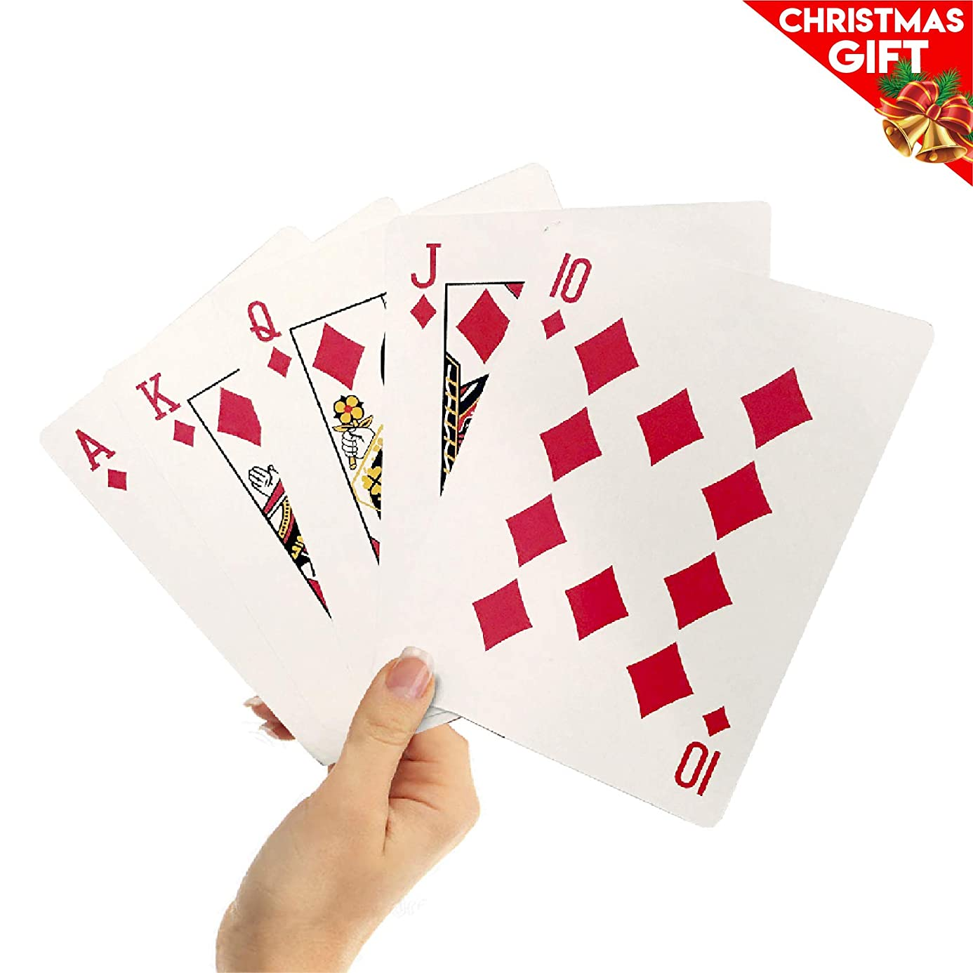 EasyGoProducts Giant Playing Cards - Novelty Jumbo Cards for Kids, Teens or Seniors - Large Print - Poker Full Deck of Cards