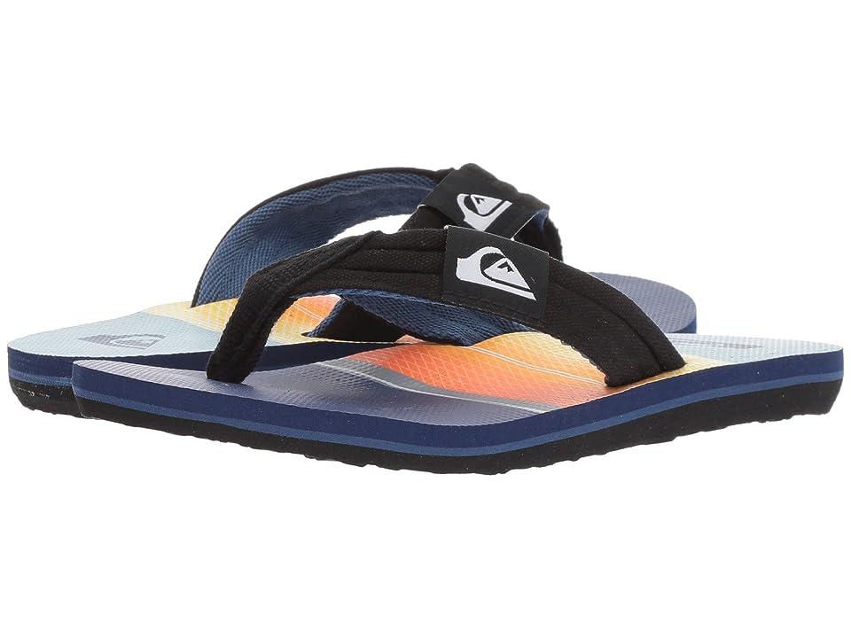 Quiksilver Kids Molokai Layback (Toddler/Little Kid/Big Kid) (Black/Orange/Blue 2) Boys Shoes