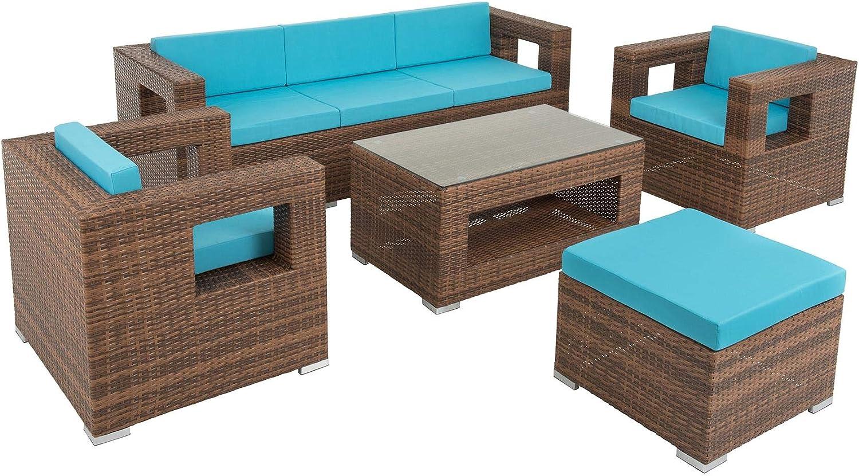 Amazon.de ESTEXO Poly Rattan Lounge Garten Möbel Set Sitzgruppe ...