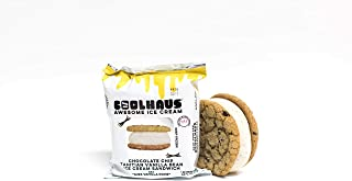 Coolhaus, Chocolate Chip Cookie Plus Tahitian Vanilla Bean Ice Cream Sandwich, 5.8 oz (Frozen)