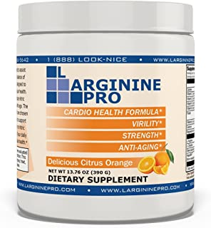 L-arginine Pro, 1 Now L-arginine Supplement - 5,500mg of L-arginine Plus 1,100mg L-Citrulline + Vitamins & Minerals for Cardio Health, Blood Pressure, Cholesterol, Energy (Citrus Orange, 1 Jar)