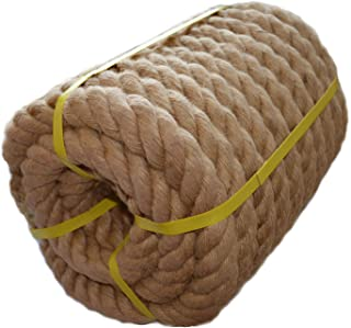 Twisted Manila Rope Jute Rope (1.5 Inch x 50 Feet) Natural Heayy Duty Hemp Rope for Nautical, Landscaping, Railings, Hammock, Home Decorating