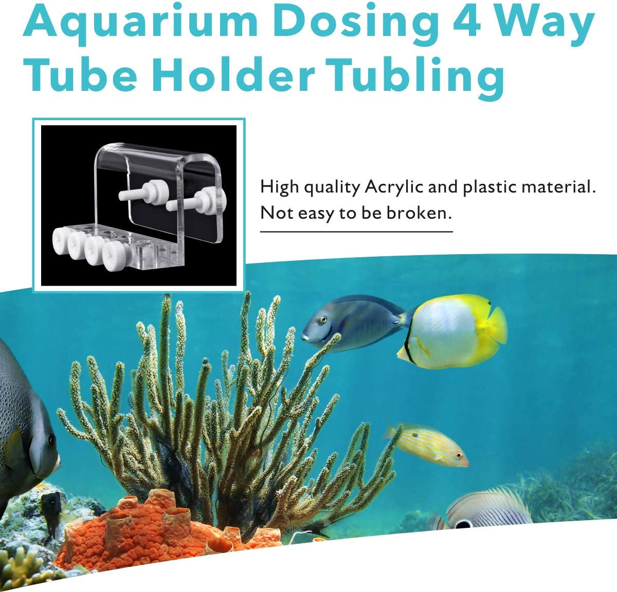 4 Channel Dosing Heads with 8 Titration Long Hoses Timing Quantitative Programmable Auto Titration Pump for Marine Coral Tanks hygger Aquarium Dosing Pump
