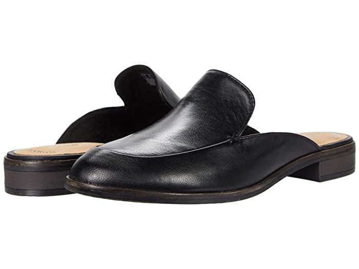 Retro Vintage Flats and Low Heel Shoes Clarks Trish Plant Black Leather Womens Shoes $60.62 AT vintagedancer.com