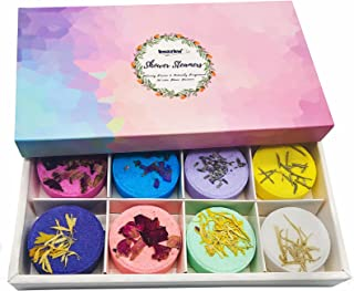 Aromatherapy Shower Steamers Christmas Gifts Set - Imazing 8 Pcs Bath Bombs for Women, Shower bombs with Essential Oils Re...