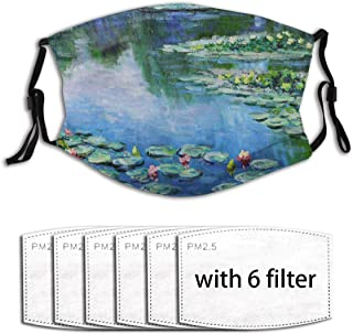 Water Lilies Monet Painting Summer Breathable And Cool Face Anti-Pollen Tool (With 6 Filters)