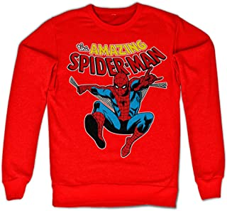 Marvel Officially Licensed Merchandise The Amazing Spiderman Sweatshirt (Red)