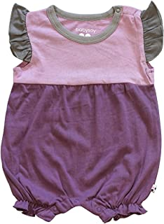 Babysoy Baby Girl Color Block Princess Romper