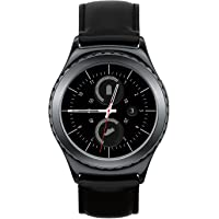 Samsung Gear S2 Classic R735T Water Resistant Wi-Fi Bluetooth 1.2'' Leather SmartWatch (Black) - Refurbished