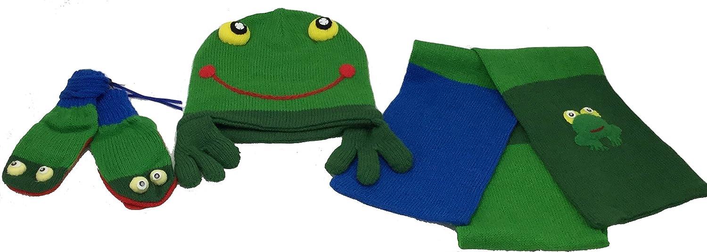 Kidorable Frog Hat Scarf and Gloves Glove Elegant Set Animer price revision Medium