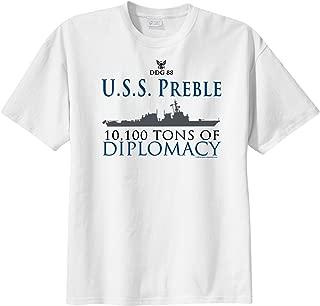 ShipShirts™ Men's DDG 88 USS Preble 10,100 tons of Diplomacy Short Sleeve T-Shirt