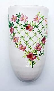 Umidificatore per Termosifoni con gancio a S in Metallo Resistente Linea Cuore Romantico Ceramica Realizzato e Dipinto a M...