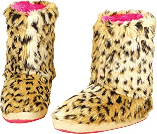 Womens Furry Boot Slippers