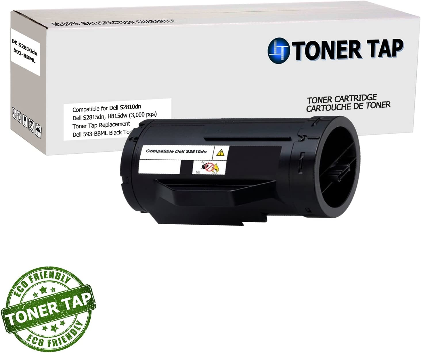 Toner Tap Premium Compatible Toner Cartridge for Use in Dell S2810DN Laser Printer, 3,000 Page Yield
