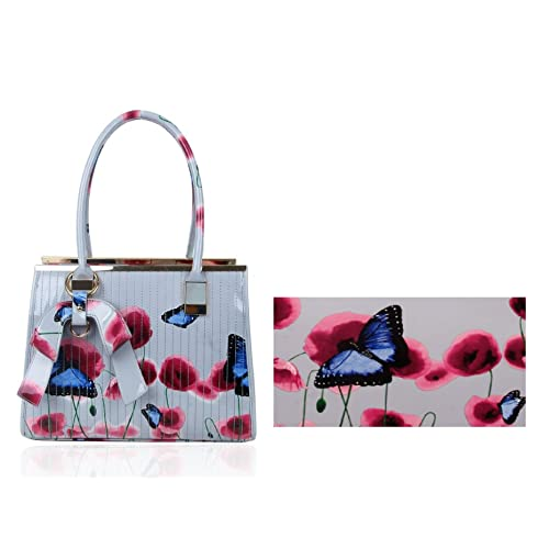 514ecc5d85a0 Ladies Women s Fashion Designer Patent Butterfly Print Shoulder Bag Hot  Selling Shinny Cross Body Handbag