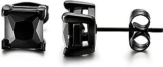 Best black square earrings mens Reviews