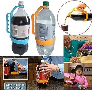 Highpot Universal Bottle Handle Bottle Grip Holder to 1 and 2 Liter Bottles Suitable for Kitchen, Restaurant, Bar (Blue)