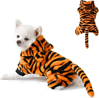 None/Brand Pet Dog Tiger Costume Hoodie Coat,Funny Halloween Tiger Clothes for Dog and Cat Cosplay Cute Dogs Warm Apparel ...