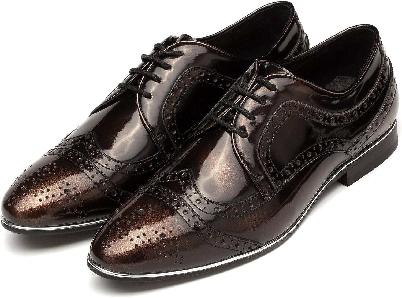 Ocean Pacific OPP Men's Retro Dress Oxfords shoes Low Lace-up Breathable Brogue shoes Design