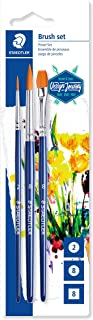 STAEDTLER 989-SBK3-3ST Synthetic Paint Brush (Pack of 3)