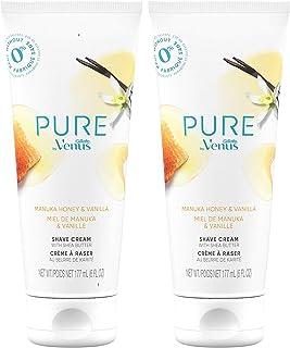Sponsored Ad - Pure by Gillette Venus Shaving Cream Manuka Honey and Vanilla, 6oz (Pack of 2)