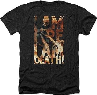 The Hobbit The I Am Fire I Am Death Adult Heather T-Shirt Tee