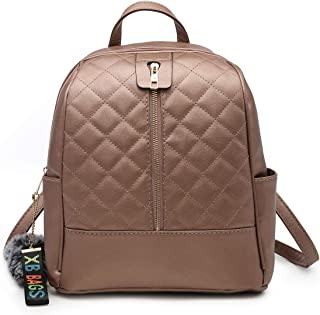 Faux Leather Backpack Purse for Women, XB Waterproof Purse Fashion Backpack New Version 2018