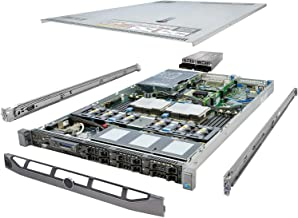 TechMikeNY High-End Virtualization 1u Server 12-Core 128GB RAM 5.7TB SSD RAID PowerEdge R610 Bezel and Rails (Renewed)