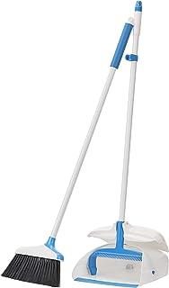 AmazonBasics Balai et pelle à poussière à manche, bleu et blanc