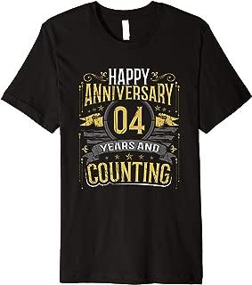 Happy Anniversary Gift 4 Years and Counting Premium T-Shirt