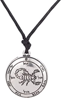 The Fifth Pentacle of Scorpion Mars Key of Solomon Protect from Evil Spirits Necklace