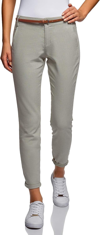 Oodji Ultra Women's Belted SlimFit Trousers
