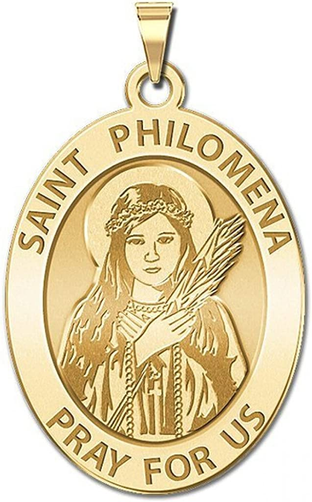 PicturesOnGold.com Saint Philomena Oval Fees free!! Availa Medal - depot Religious