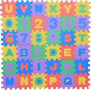 Zerodis 36Pcs Infant Soft EVA Foam Play Puzzle Mat Numbers & Letters Baby Children Kids Playing Crawling Non-Toxic Pad Toys