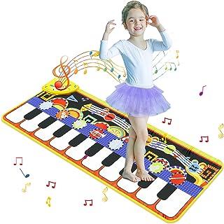 Innedu Tapis de Piano Musical, Tapis Musical, Tapis de Jeu de Danse à Clavier à 19 Touches, Jouet de Musique éducatif Port...