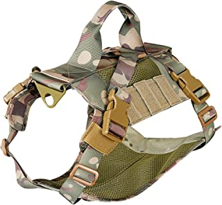 Outry Tactical Dog Vest, Adjustable Dog Training Vest, No-Pull Harness, One Size Fits Most