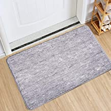 Indoor Doormat Super Absorbs Mud Absorbent Rubber Backing Non Slip Door Mat for Front Door Inside Floor Dirt Trapper Mats ...