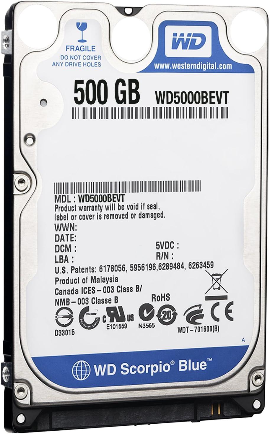 Western Digital Wd5000bevt Scorpio Blue 500gb Interne Computer Zubehör